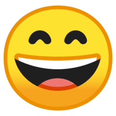 Grinning Face With Smiling Eyes Emoji on Google Android and Chromebooks