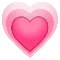 Growing Heart Emoji on Google Android and Chromebooks