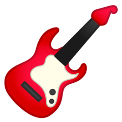 Guitar Emoji on Google Android and Chromebooks