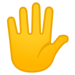Hand With Fingers Splayed Emoji on Google Android and Chromebooks