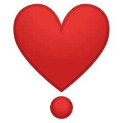 Heart Exclamation Emoji on Google Android and Chromebooks