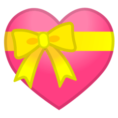 Heart With Ribbon Emoji on Google Android and Chromebooks