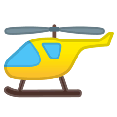 Helicopter Emoji on Google Android and Chromebooks
