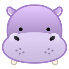 Hippopotamus Emoji on Google Android and Chromebooks