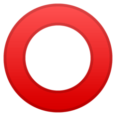 Hollow Red Circle Emoji on Google Android and Chromebooks