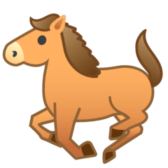 Horse Emoji on Google Android and Chromebooks