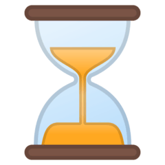 Hourglass Not Done Emoji on Google Android and Chromebooks