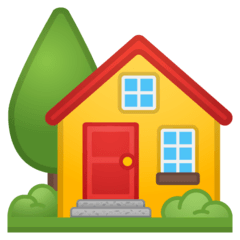 House With Garden Emoji on Google Android and Chromebooks