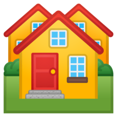 Houses Emoji on Google Android and Chromebooks