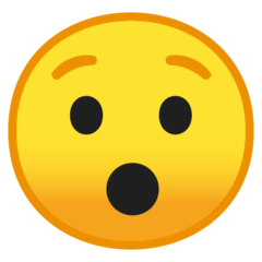 Hushed Face Emoji on Google Android and Chromebooks