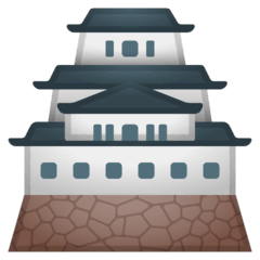 Japanese Castle Emoji on Google Android and Chromebooks