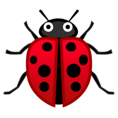 Lady Beetle Emoji on Google Android and Chromebooks