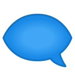 Left Speech Bubble Emoji on Google Android and Chromebooks