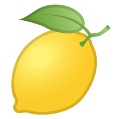 Lemon Emoji on Google Android and Chromebooks