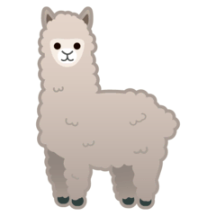Llama Emoji on Google Android and Chromebooks