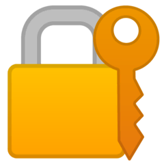 Locked With Key Emoji on Google Android and Chromebooks