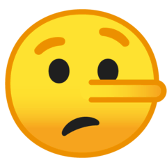 Lying Face Emoji on Google Android and Chromebooks