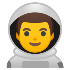 Man Astronaut Emoji on Google Android and Chromebooks