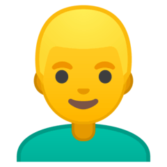 Man: Blond Hair Emoji on Google Android and Chromebooks