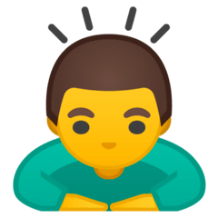 Man Bowing Emoji on Google Android and Chromebooks