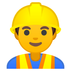 Man Construction Worker Emoji on Google Android and Chromebooks