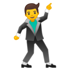 Man Dancing Emoji on Google Android and Chromebooks