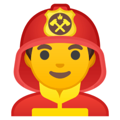 Man Firefighter Emoji on Google Android and Chromebooks