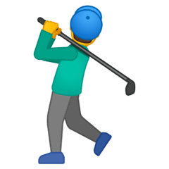 Man Golfing Emoji on Google Android and Chromebooks