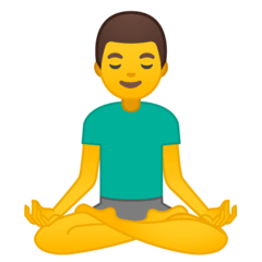 Man In Lotus Position Emoji on Google Android and Chromebooks