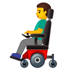 Man In Motorized Wheelchair Emoji on Google Android and Chromebooks