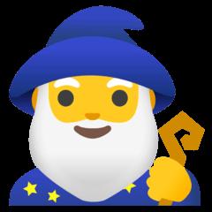 Man Mage Emoji on Google Android and Chromebooks