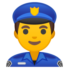 Man Police Officer Emoji on Google Android and Chromebooks