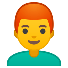 Man, Red Haired Emoji on Google Android and Chromebooks