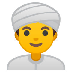 Man Wearing Turban Emoji on Google Android and Chromebooks