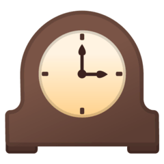 Mantelpiece Clock Emoji on Google Android and Chromebooks