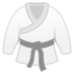 Martial Arts Uniform Emoji on Google Android and Chromebooks
