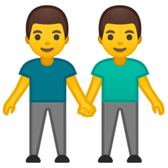 Men Holding Hands Emoji on Google Android and Chromebooks