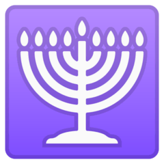 Menorah Emoji on Google Android and Chromebooks