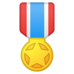 Military Medal Emoji on Google Android and Chromebooks