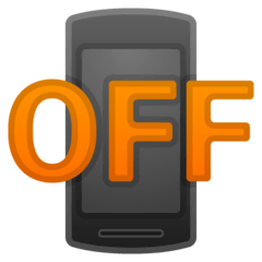Mobile Phone Off Emoji on Google Android and Chromebooks