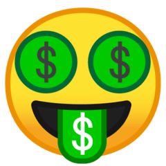 Money-Mouth Face Emoji on Google Android and Chromebooks