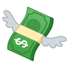 Money With Wings Emoji on Google Android and Chromebooks