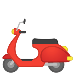 Motor Scooter Emoji on Google Android and Chromebooks
