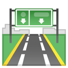 Motorway Emoji on Google Android and Chromebooks