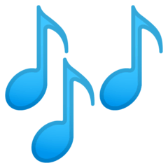 Musical Notes Emoji on Google Android and Chromebooks