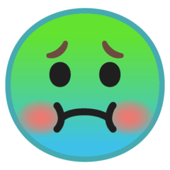 Nauseated Face Emoji on Google Android and Chromebooks