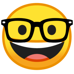 Nerd Face Emoji on Google Android and Chromebooks