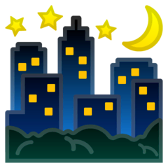 Night With Stars Emoji on Google Android and Chromebooks
