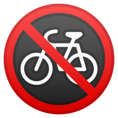 No Bicycles Emoji on Google Android and Chromebooks