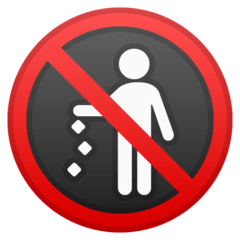 No Littering Emoji on Google Android and Chromebooks